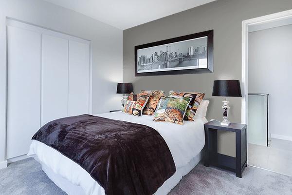 Pretty Photo frame on Titanium color Bedroom interior wall color