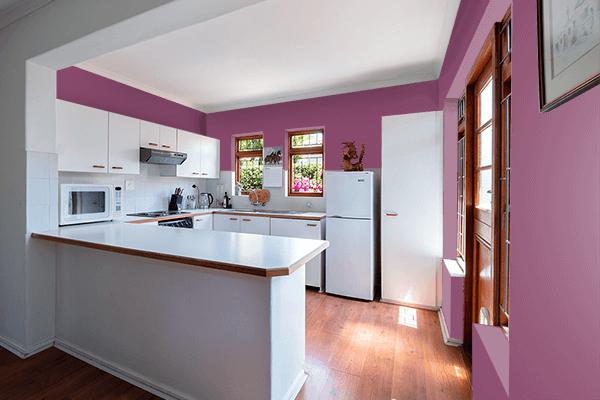 Pretty Photo frame on Twilight Lavender color kitchen interior wall color