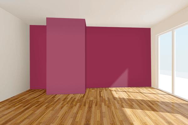 Pretty Photo frame on Red-Violet (Color Wheel) color Living room wal color