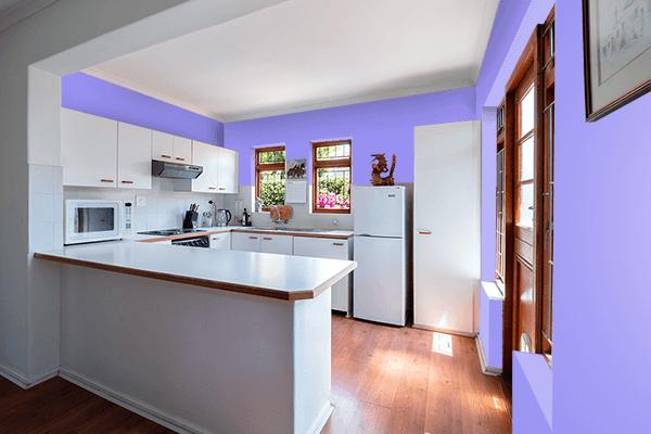 Pretty Photo frame on Maximum Blue Purple color kitchen interior wall color