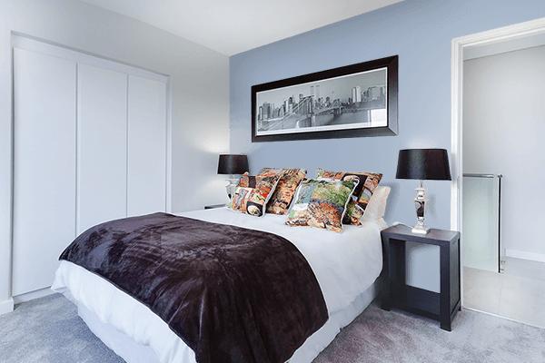 Pretty Photo frame on Cadet Blue (Crayola) color Bedroom interior wall color
