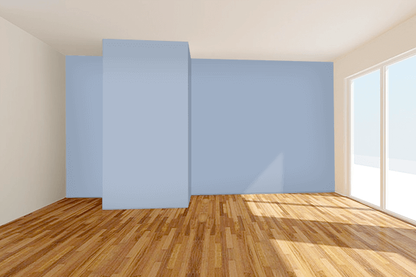 Pretty Photo frame on Cadet Blue (Crayola) color Living room wal color