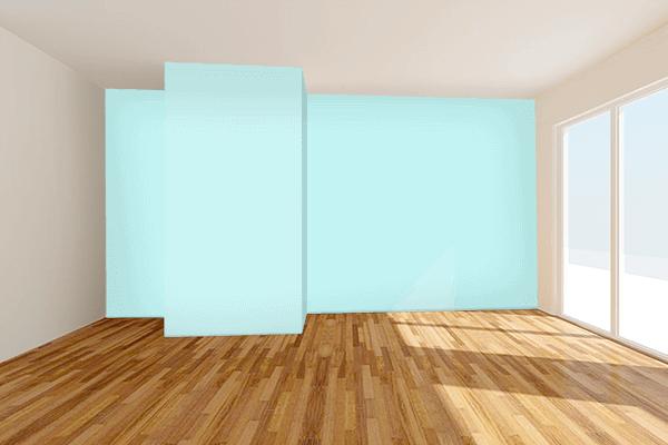 Pretty Photo frame on Diamond color Living room wal color