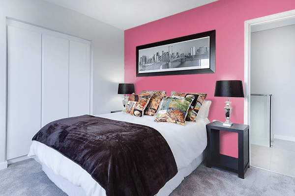Pretty Photo frame on Charm color Bedroom interior wall color