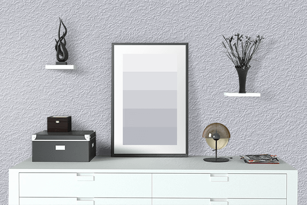 Pretty Photo frame on Gainsboro color drawing room interior textured wall