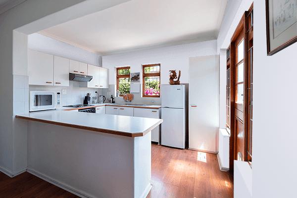 Pretty Photo frame on Gainsboro color kitchen interior wall color