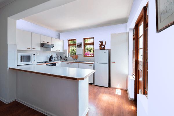 Pretty Photo frame on Lavender (Web) color kitchen interior wall color