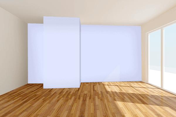 Pretty Photo frame on Lavender (Web) color Living room wal color
