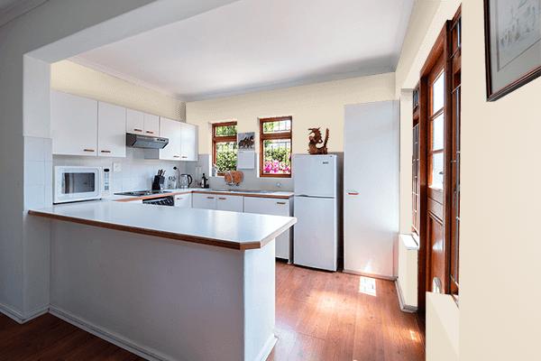 Pretty Photo frame on Bone color kitchen interior wall color