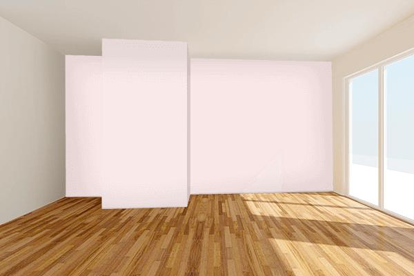 Pretty Photo frame on Misty Rose color Living room wal color