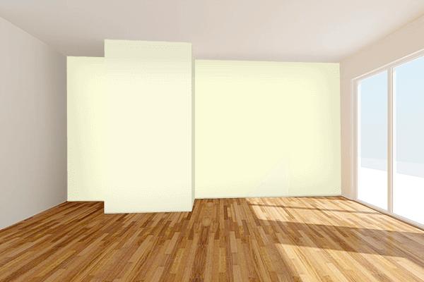 Pretty Photo frame on Cornsilk color Living room wal color