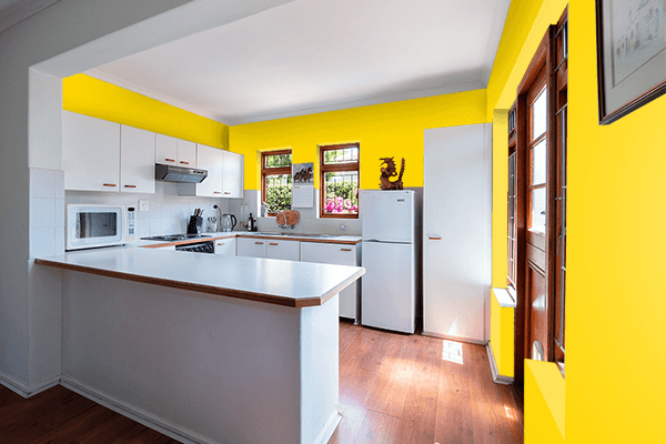 Pretty Photo frame on Gold (Web) (Golden) color kitchen interior wall color
