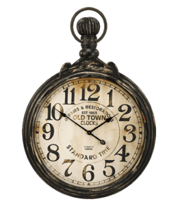 Antique pocket watch with dirty white dial
