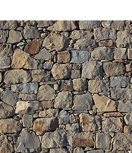 Beige & Grey Colored Stone Brick Wall