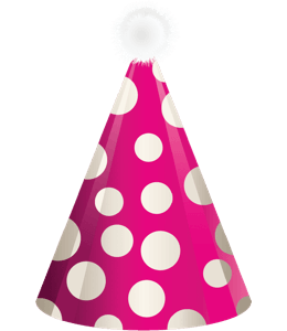 Pink birthday party hat