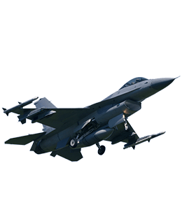Black Colored Jet fighter