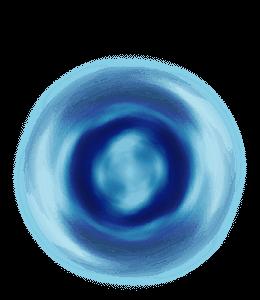 Blue circles and spirals