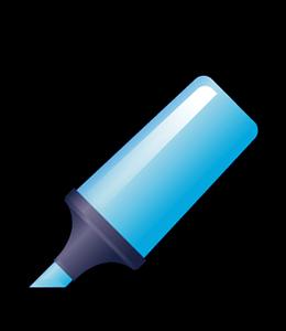 Blue Highlighter Pen illustration