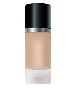 Brown Makeup cream bottle with black