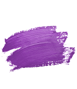 Brush strokes with purple paint