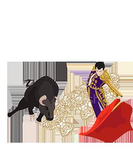 Bullfighting Illustration
