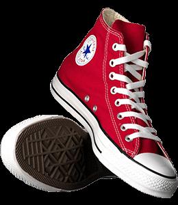 Carmine colored shoes
