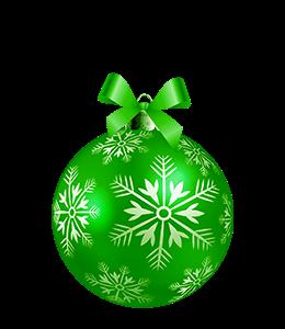 Christmas Ornament Green Ball