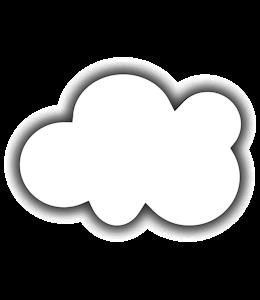 White cloud on a blue web color sky