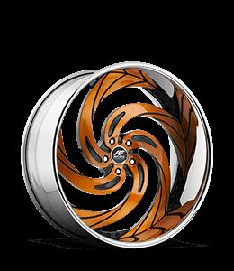 Custom Alloy Wheel with Orange Metal Coat