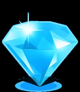 Cyan blue colroed diamond