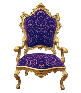 Gold and Purple Royal Chair