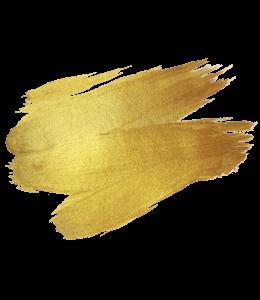 Gold color brush paint