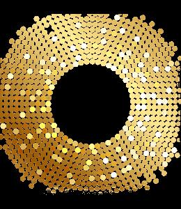 Gold design of circles in a circle