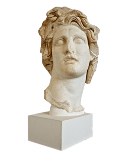 Greek marble bust