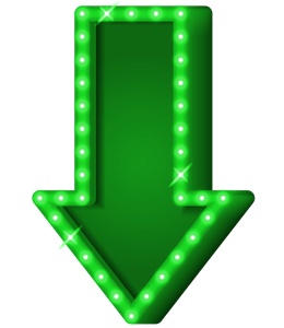 Green arrow pointed down