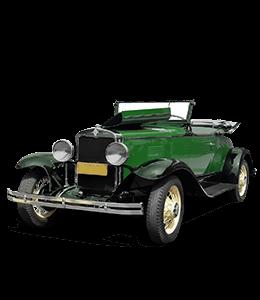 Green Vintage Luxury Car