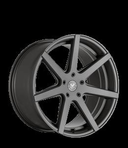 Gunmetal colored car rim