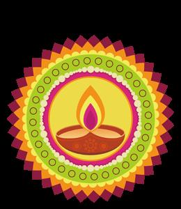 Indian mandala (rangoli) art