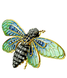 jewellery - Broach of bee insect
