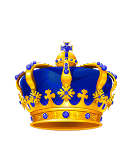 King's Blue Crown Illustration