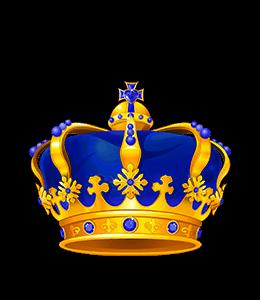 King's Blue Crown Illustration
