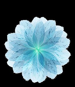 Light Blue Paper Flower
