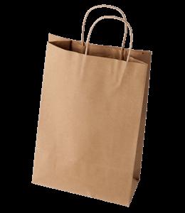 Light brown colored paper bag