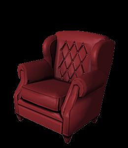 Luxury Burgundy Club chair