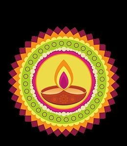 Mandala design with vibrant colors