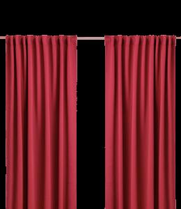 Maroon window curtains