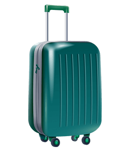 Matte Teal Travel Suitcase