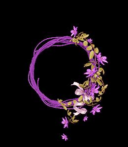 Mauve flower arrangement for hair