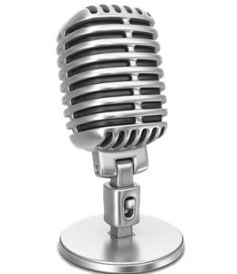 Gray colored microphone