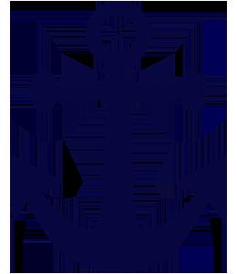 Navy-coloured anchor